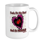 Valentine My Heart is Fragile Large Mug