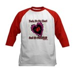 Valentine My Heart is Fragile Kids Baseball Jersey