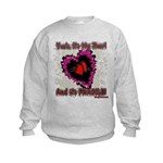 Valentine My Heart is Fragile Kids Sweatshirt