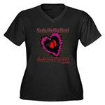 Valentine My Heart is Fragile Women's Plus Size V-