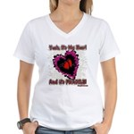 Valentine My Heart is Fragile Women's V-Neck T-Shi