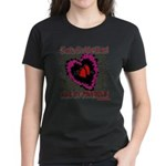 Valentine My Heart is Fragile Women's Dark T-Shirt