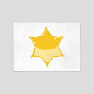 Sheriff Badge 5'x7'Area Rug