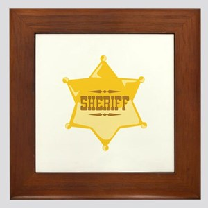 Sheriff Framed Tile
