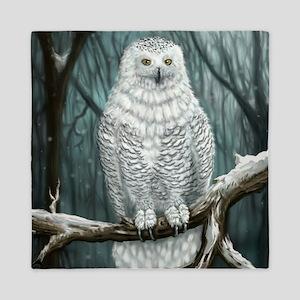 Snowy Owl Queen Duvet