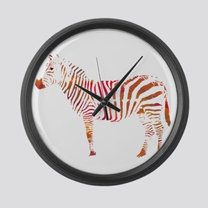 The Colorful Zebra Large Wall Clock