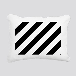 Black and White Diagonal Rectangular Canvas Pillow