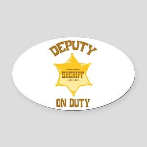 Deputy Sheriff On Duty Oval Car Magnet