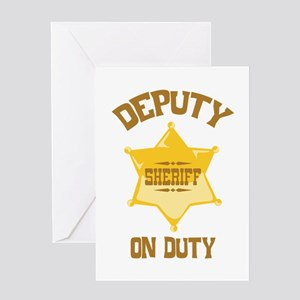 Deputy Sheriff On Duty Greeting Cards