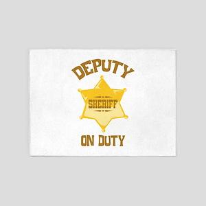 Deputy Sheriff On Duty 5'x7'Area Rug