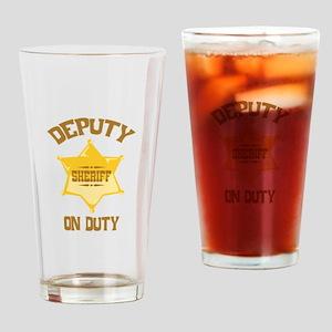 Deputy Sheriff On Duty Drinking Glass