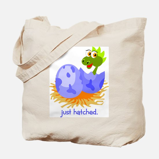 Just Hatched Dinosaur Tote Bag