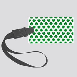 'Irish Shamrocks' Large Luggage Tag