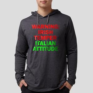 WARNINGIRISHTEMPER ITALIAN ATT Long Sleeve T-Shirt