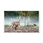 Mother Deer Rectangle Car Magnet