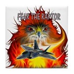 Fear The Raptor Tile Coaster