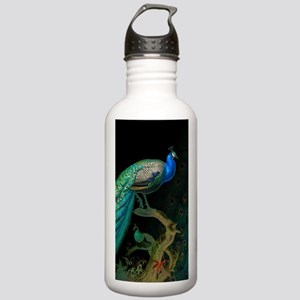Vintage Peacock Stainless Water Bottle 1.0L