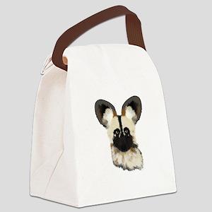 WildAfricanDog Canvas Lunch Bag