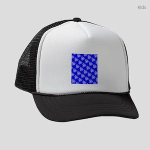 Blue Menorahs Hanukkah Mensch 4Jo Kids Trucker hat