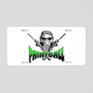 Paintball Aluminum License Plate