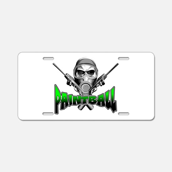 Paintball Aluminum License Plate