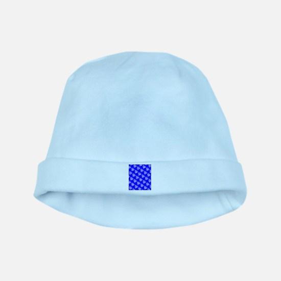 Blue Menorahs Hanukkah Mensch 4Josh Baby Hat