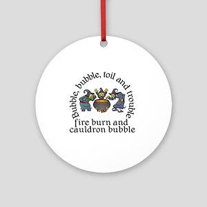 Witch Cauldron Halloween Round Ornament