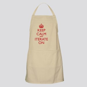 KEEP CALM & ITERATE ON Apron