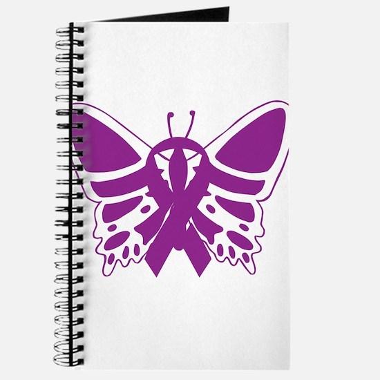 Purple Awareness Butterfly Ribbon Journal