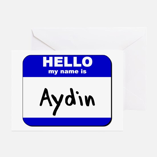 hello my name is aydin  Greeting Cards (Package of