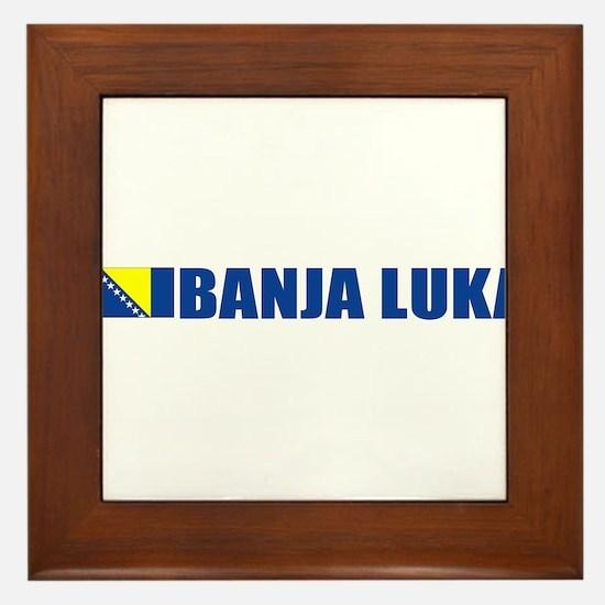 Banja Luka, Bosnia Framed Tile