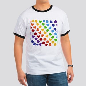 Colorful Rainbow Hearts T-Shirt