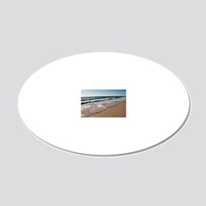 New Jersey beach 20x12 Oval Wall Decal
