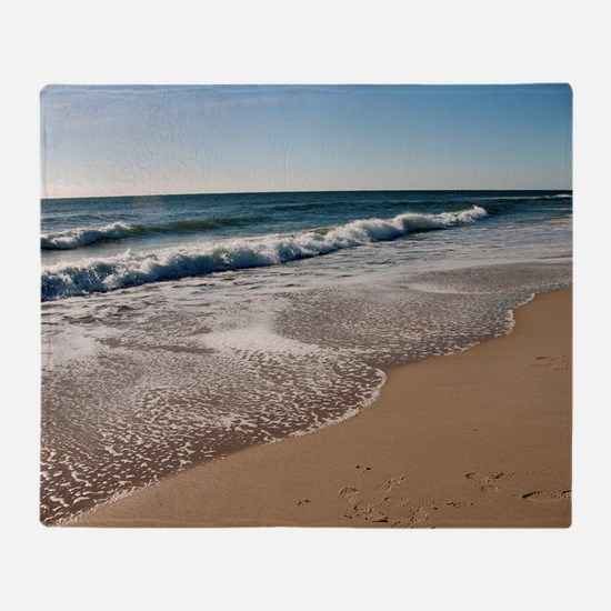 New Jersey beach Throw Blanket
