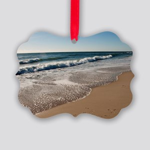 New Jersey beach Picture Ornament