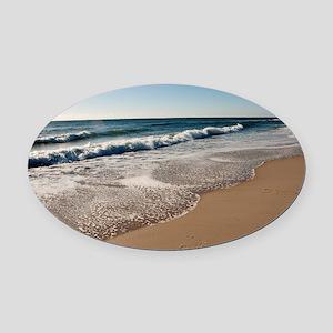 New Jersey beach Oval Car Magnet