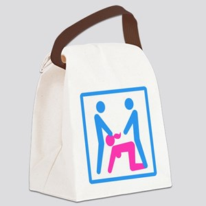Kamasutra - Menage a Trois (MFM) Canvas Lunch Bag