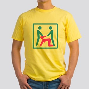Kamasutra - Menage a Trois (MFM) Yellow T-Shirt