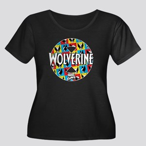 Wolverine Circle Collage Women's Plus Size Scoop N
