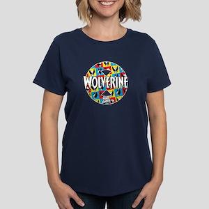 Wolverine Circle Collage Women's Dark T-Shirt
