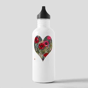 Poppy Heart for t-shir Stainless Water Bottle 1.0L