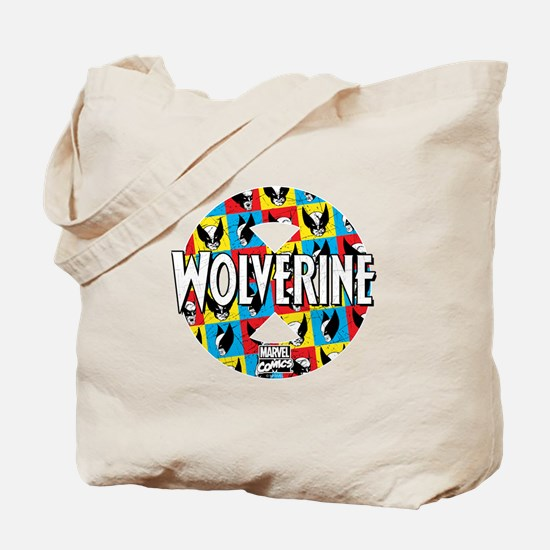 Wolverine Circle Collage Tote Bag