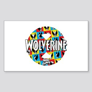 Wolverine Circle Collage Sticker (Rectangle)