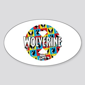 Wolverine Circle Collage Sticker (Oval)
