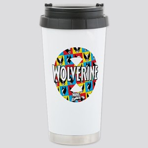 Wolverine Circle Collage Stainless Steel Travel Mu