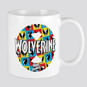 Wolverine Circle Collage Mug