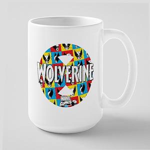 Wolverine Circle Collage Large Mug