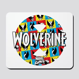 Wolverine Circle Collage Mousepad