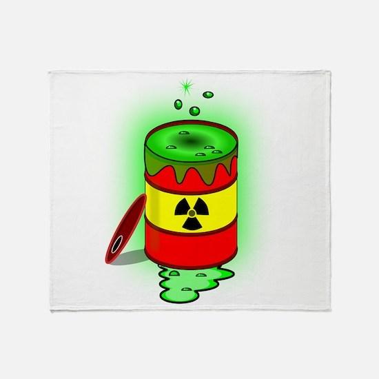 Toxic Spill Barrel Throw Blanket