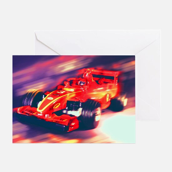 F1 Racer Greeting Card